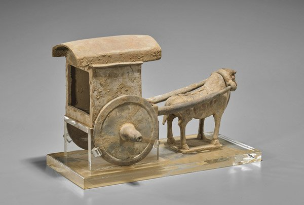 Tang Dynasty Pottery Ox & Carriage - 2