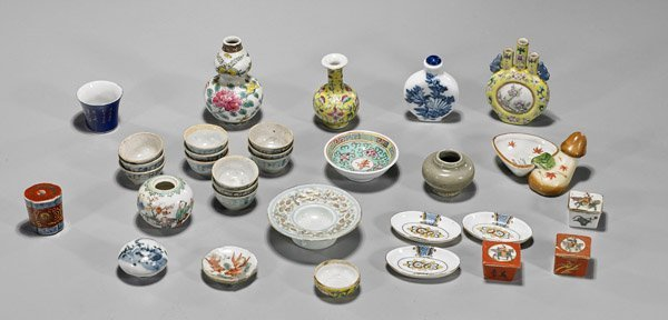Thirty-One Chinese & Japanese Miniature Porcelains