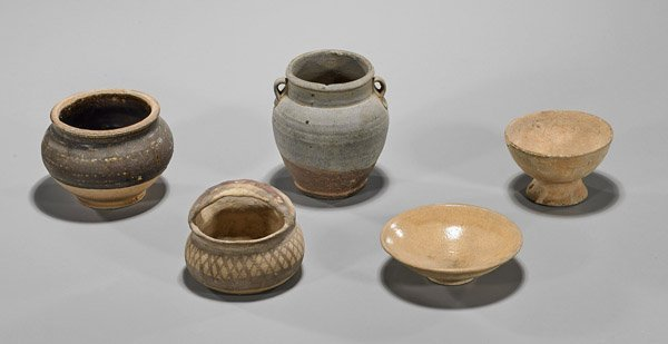 Five Early Chinese Pottery Vessels