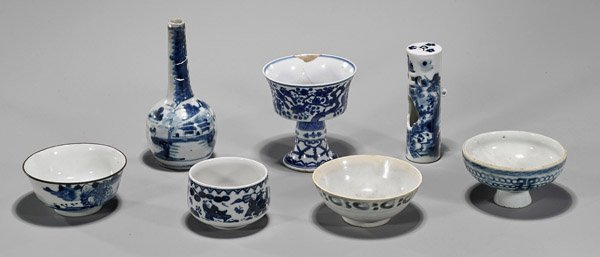 Seven Chinese & Japanese Blue & White Porcelains
