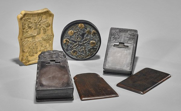 Four Chinese Ink Items: Stones & Sticks