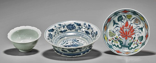 Three Chinese Porcelain Dishes