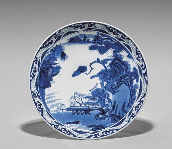 Antique Japanese Artia Porcelain Charger