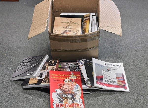 Box of Various Art Catalogs & Magazines