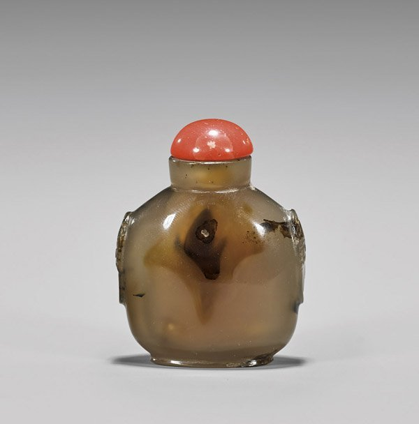 Antique Chalcedony Agate Snuff Bottle
