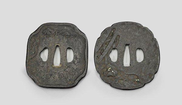 Two Antique Japanese Iron Tsuba - 2