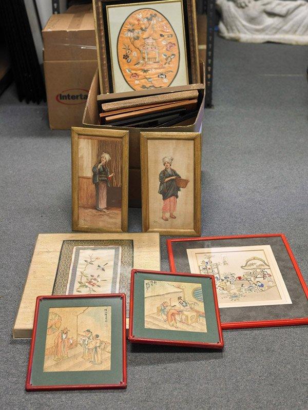 Fourteen Chinese Flatworks: Silk & Paper