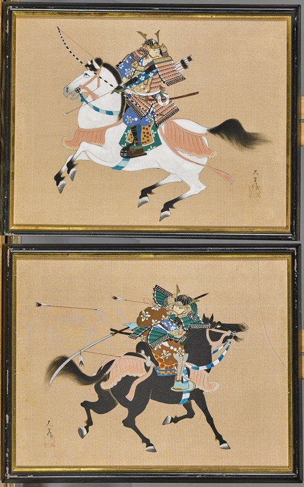 Fourteen Framed Japanese Woodblock Prints - 2