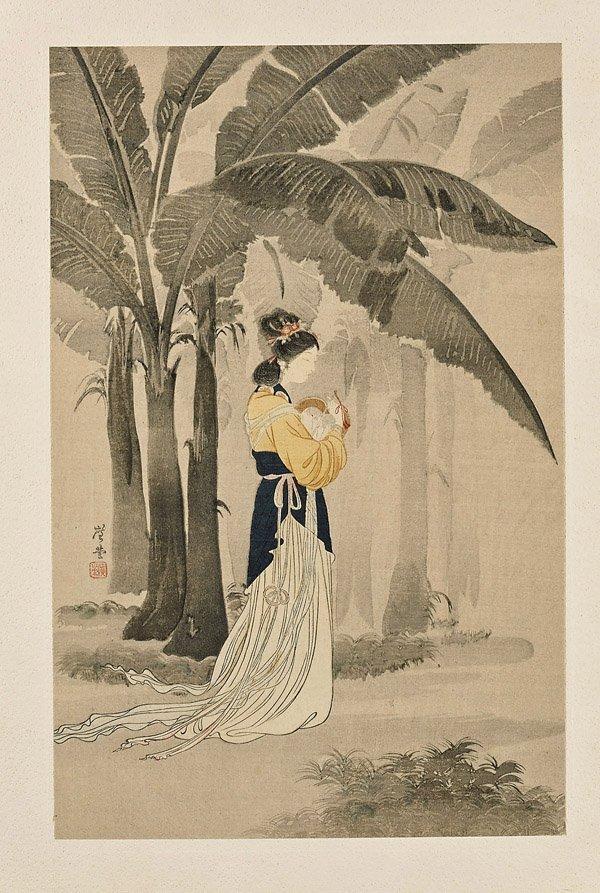 Fourteen Framed Japanese Woodblock Prints - 4