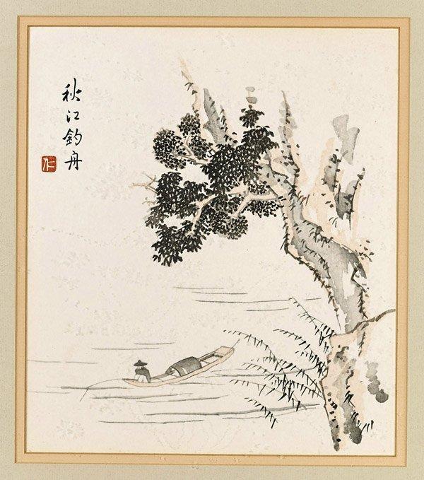Fourteen Framed Japanese Woodblock Prints - 6