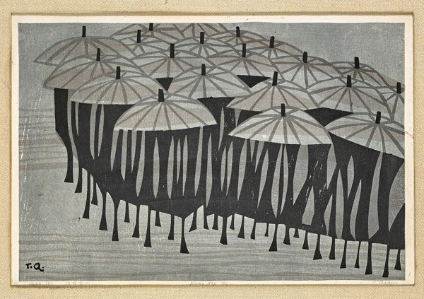Fourteen Framed Japanese Woodblock Prints - 8