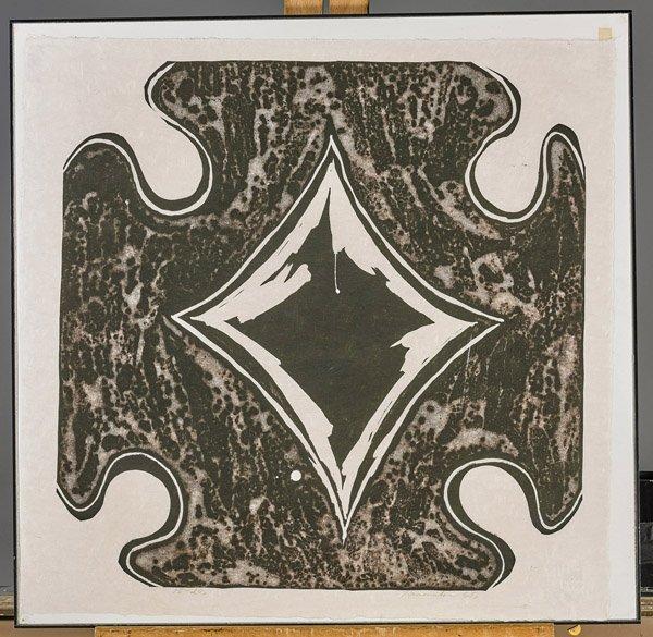 Fourteen Framed Japanese Woodblock Prints - 9