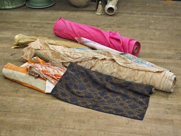 Nine Bolts of Velvet & Brocade Fabric