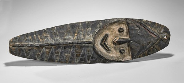 Papua New Guinea Carved Wood Plank Mask