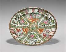 Large Antique Rose Medallion Porcelain Platter