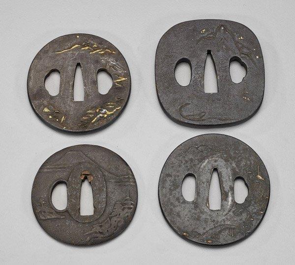 Four Antique Japanese Iron Tsuba