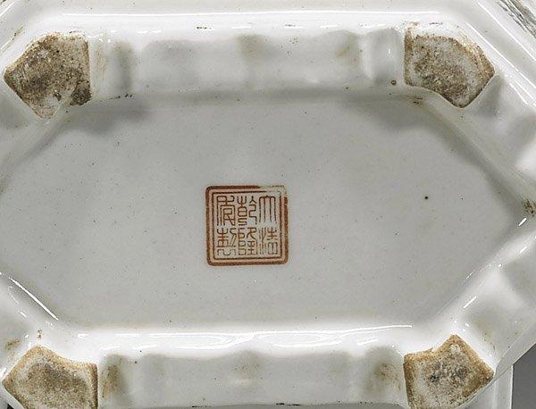 Six Chinese Porcelain Vessels: Scholars & Birdfeeders - 2