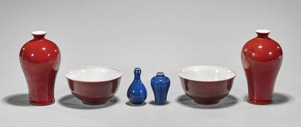 Six Chinese Monochrome Porcelains