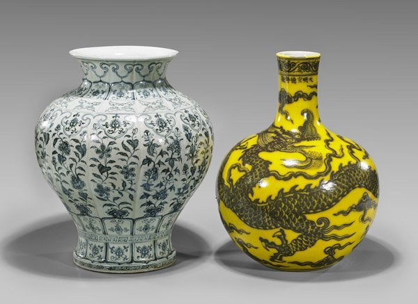 Two Large Chinese Porcelain Vases