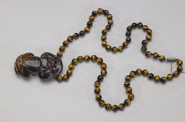 Carved Hardstone Netsuke & Necklace