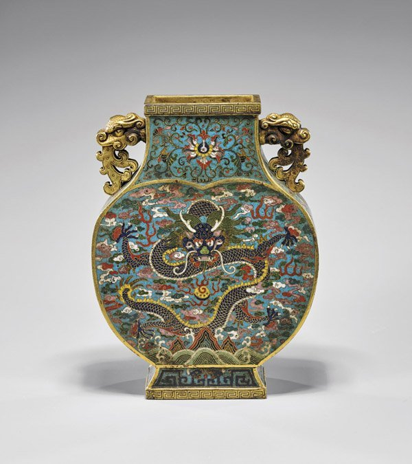 Qianlong-Style Cloisonne Enamel Vase