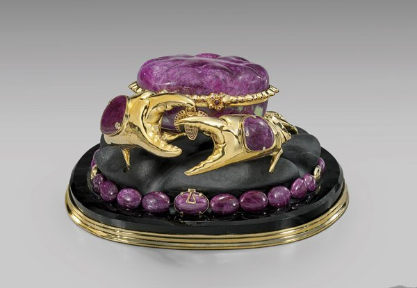 MAGNIFICENT RUBY CRAB WITH JEWELRY SUITE
