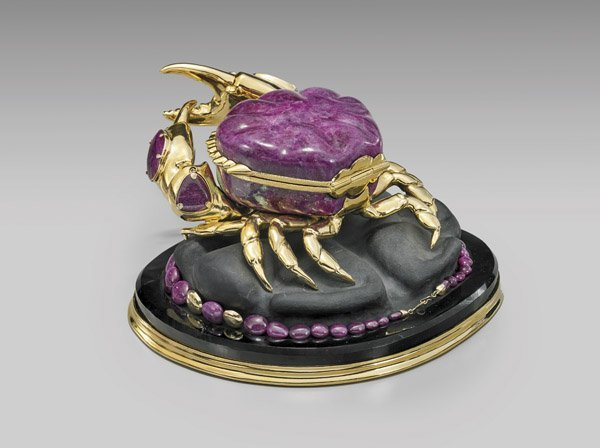 MAGNIFICENT RUBY CRAB WITH JEWELRY SUITE - 2