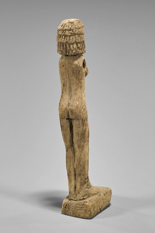 EGYPTIAN CARVED WOOD FEMALE FIGURE - 2