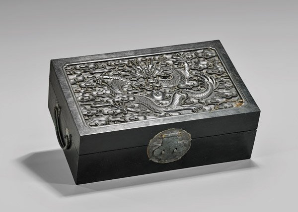 CARVED ZITAN WOOD BOX