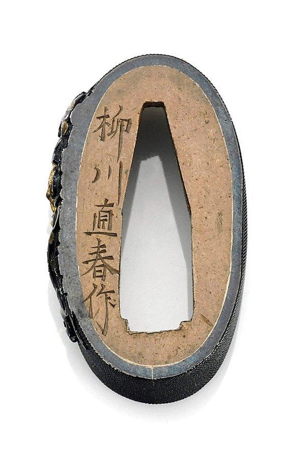 TWO-PIECE ANTIQUE JAPANESE YANAGAWA SCHOOL FUCHI - 2