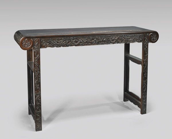 CHINESE CARVED HARDWOOD ALTAR TABLE