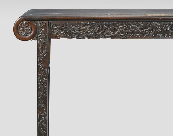 CHINESE CARVED HARDWOOD ALTAR TABLE - 2