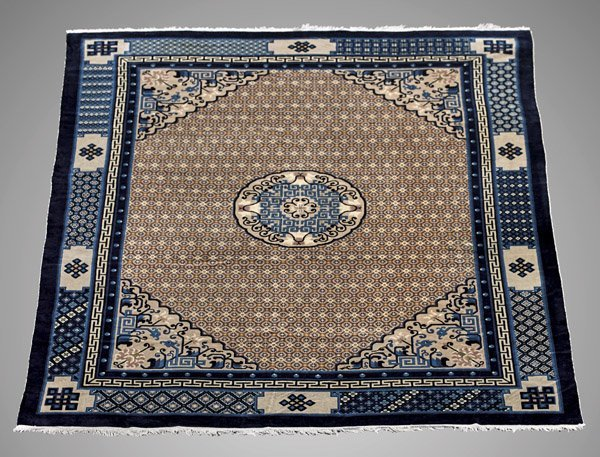 CHINESE ART DECO WOOL RUG