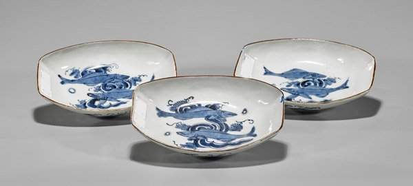 Three Antique Japanese Arita Bowls