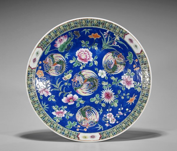 Antique Chinese Enameled Charger