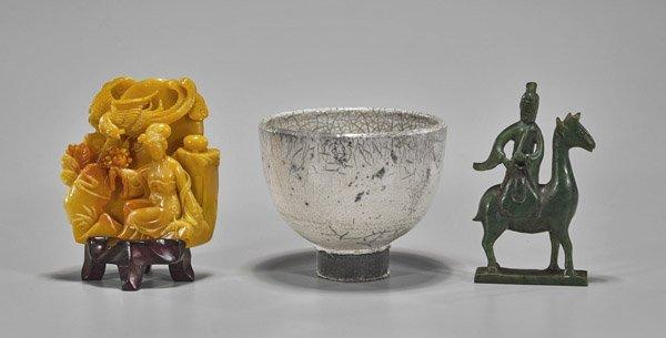 Three Chinese Items: Ladies & Teabowl