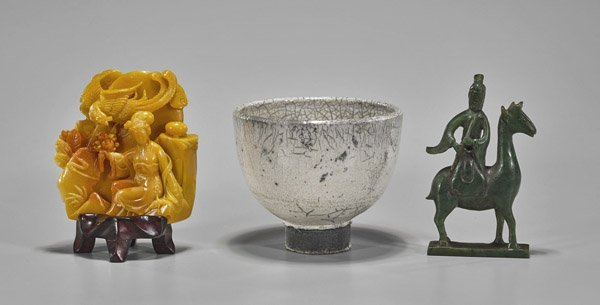 Three Chinese Items: Ladies & Teabowl