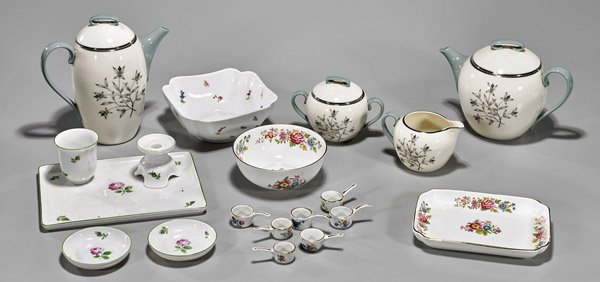Nineteen Continental Porcelain Dishes