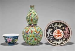 Three Qianlong-Style Porcelains