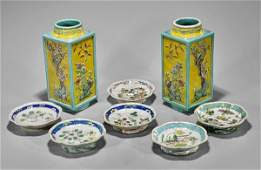 Eight Old  Antique Chinese Enameled Porcelains