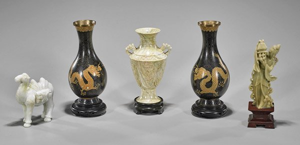 Five Chinese Items: Vases & Figurines