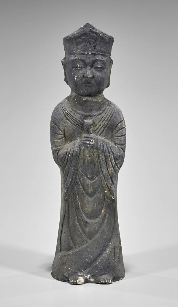 Old Korean Carved Stone Temple Figure