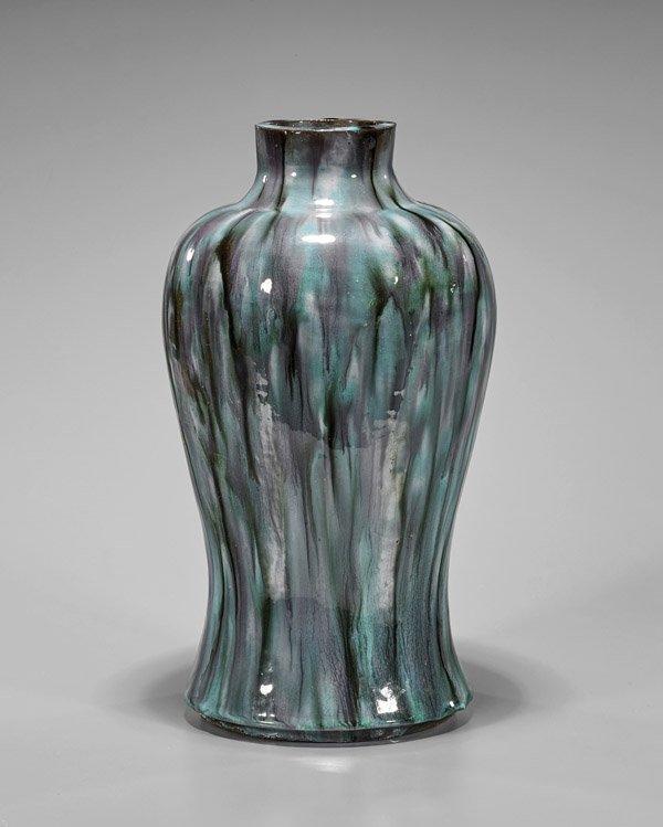 Large Chinese Drip Glazed Porcelain Jar