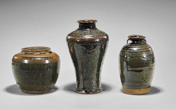 Three Jin Dynasty Henan Glazed Vessels