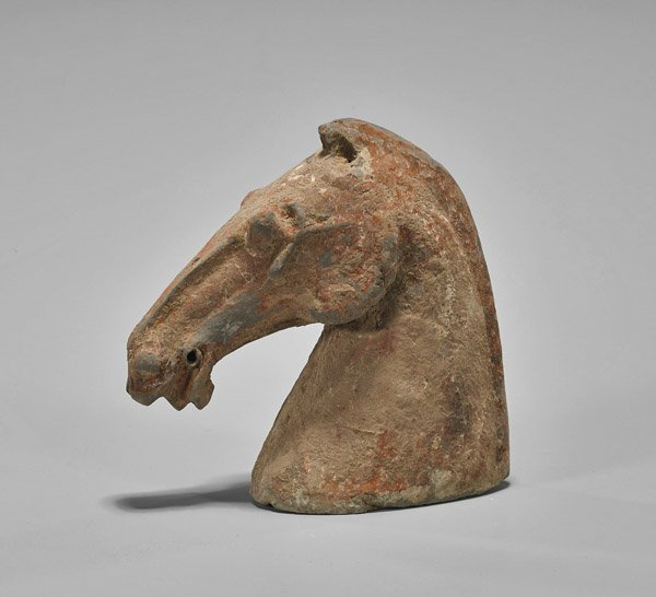 Han Dynasty Painted Pottery Horse's Head