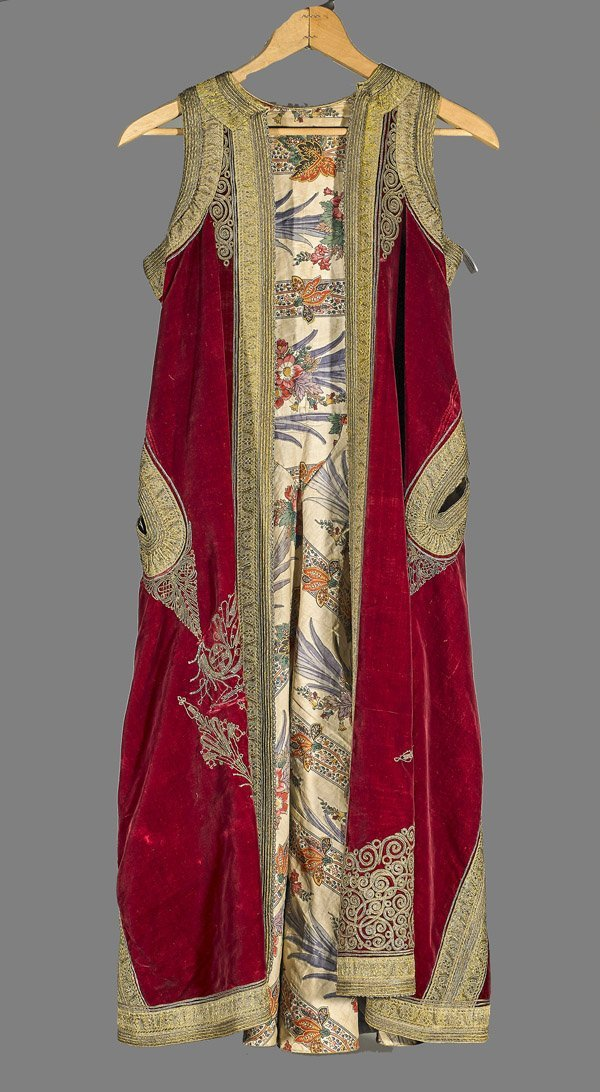 Antique Ethnic Embroidered Velvet Kaftan Jacket
