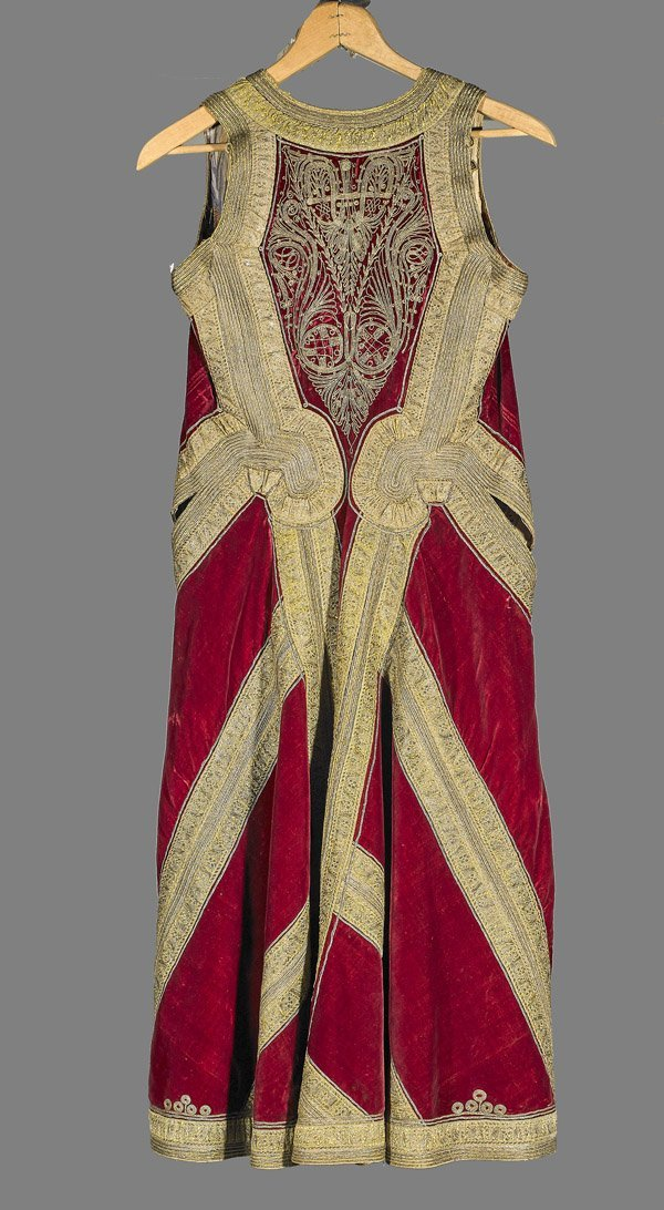 Antique Ethnic Embroidered Velvet Kaftan Jacket - 2