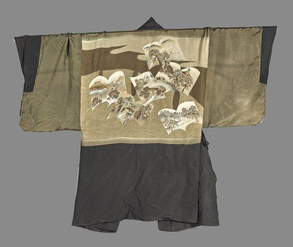 Men's Japanese Silk Short Robe - 2