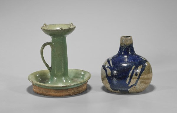 Two Antique Chinese Glazed Potteries