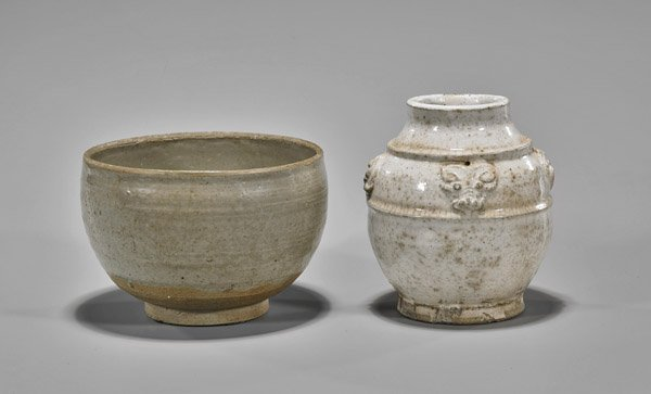 Two Early Chinese Glazed Ceramics